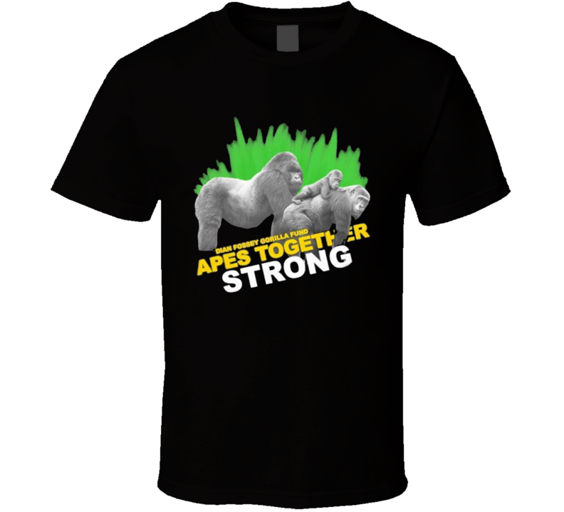 Dian Fossey Gorilla Fund Apes Together Strong Wallstreetbets Meme T Shirt