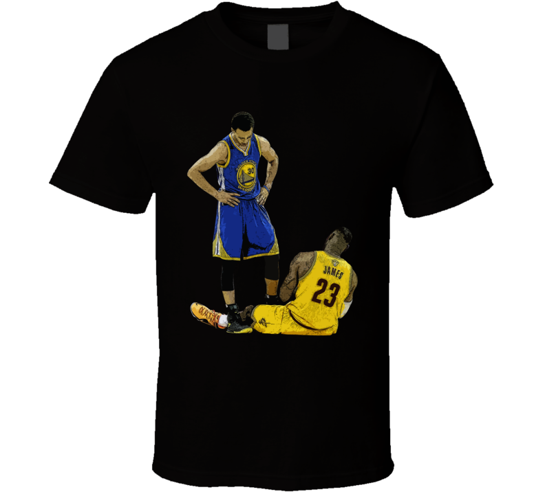 Stephen Curry Standing Over Lebron James Golden State Basketball Fan Cool T Shirt