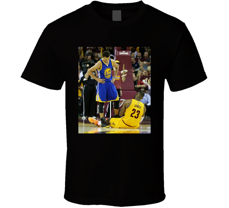 Stephen Curry Standing Over Lebron James Golden State Basketball Fan T Shirt