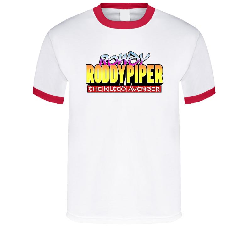 Rowdy Roddy Piper The Kilted Avenger Retro Wrestler Fan T Shirt
