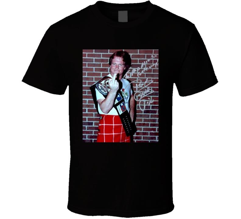 Rowdy Roddy Piper Middle Finger Retro Wrestler Fan T Shirt