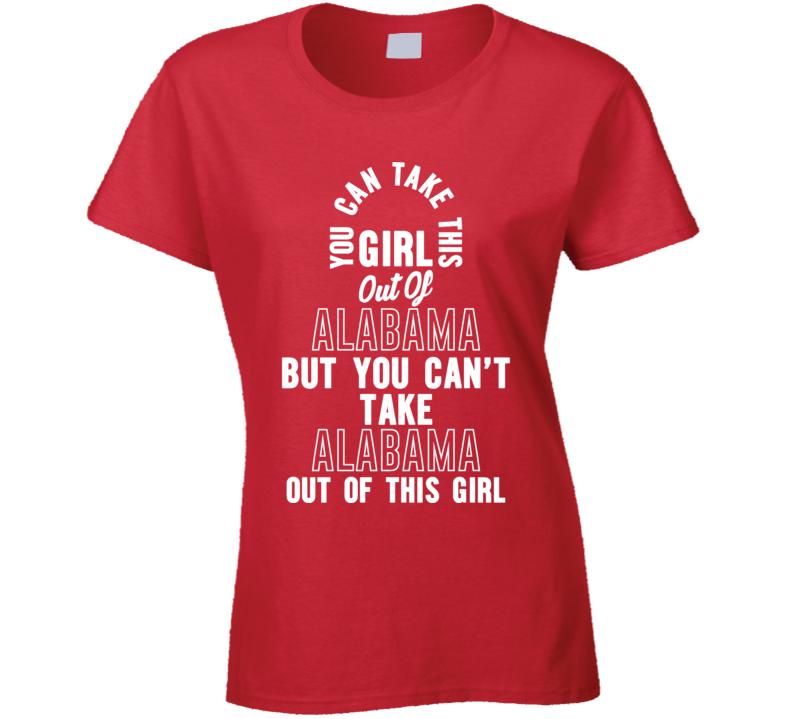 Girl Out Alabama Ladies T Shirt