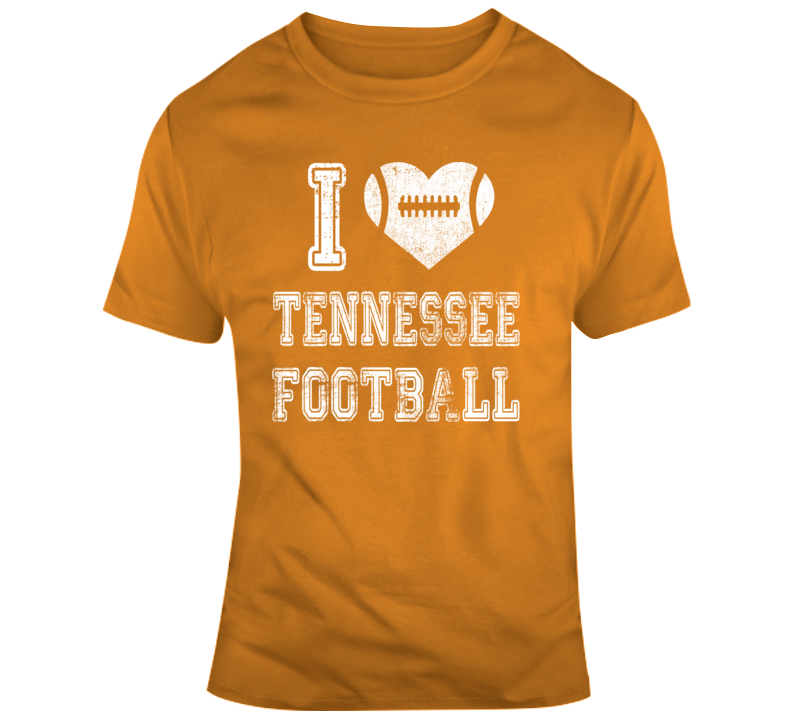I Heart Tennessee Football T Shirt