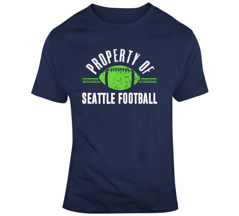 Property Of Seattle Football T Shirt
