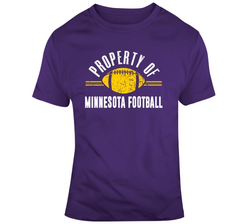 Property Of Minnesota Football T Shirt