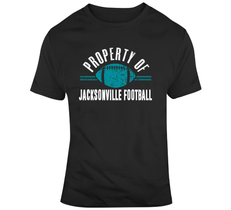 Property Of Jacksonville Football T Shirt