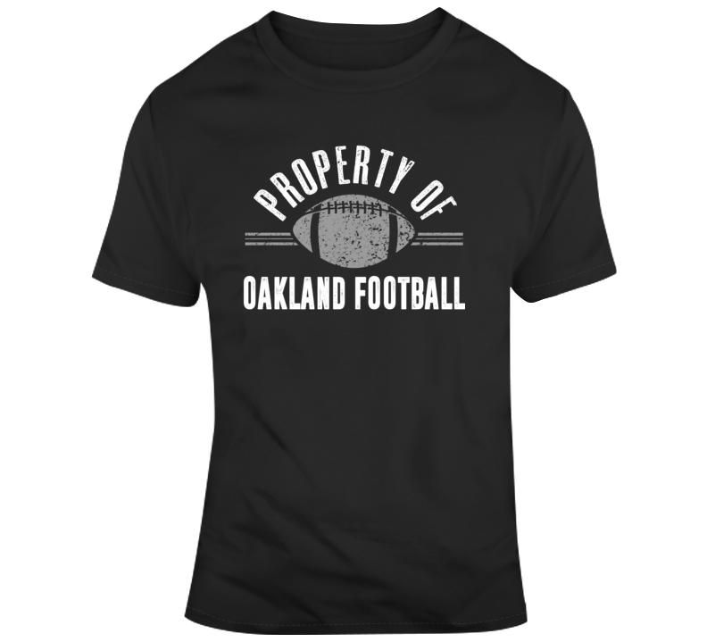 Property Of Oakland Football T Shirt
