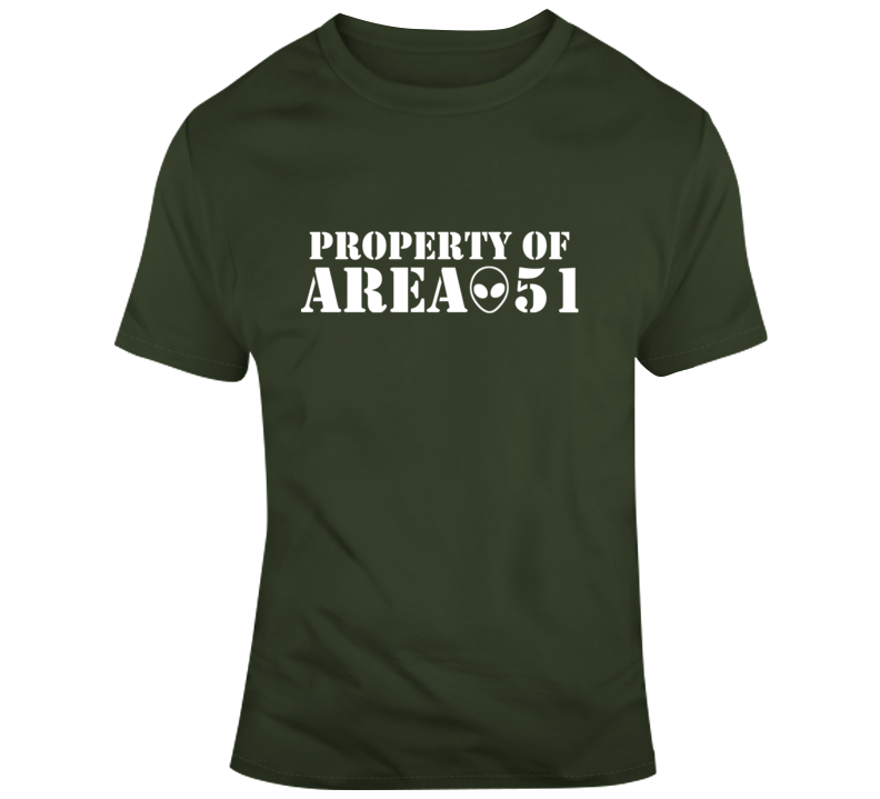 Property Of Area 51 T Shirt
