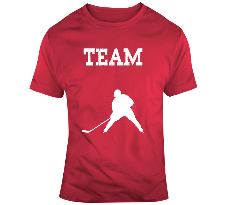 Customizable Team-hockey Template T Shirt