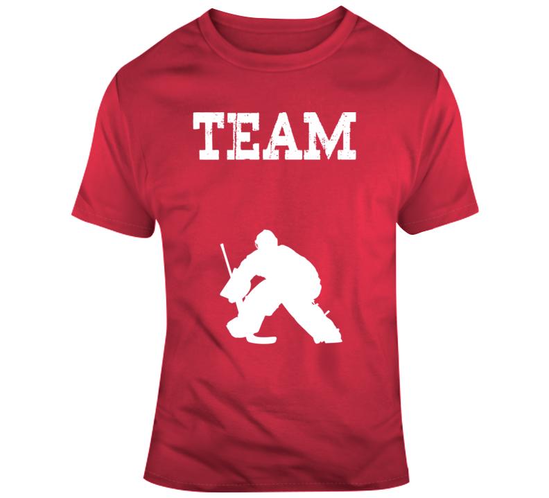 Team-hockey Goalie Template T Shirt