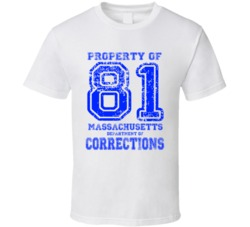 Aaron Hernandez Number 81 Department of Corrections Distressed T Shirt