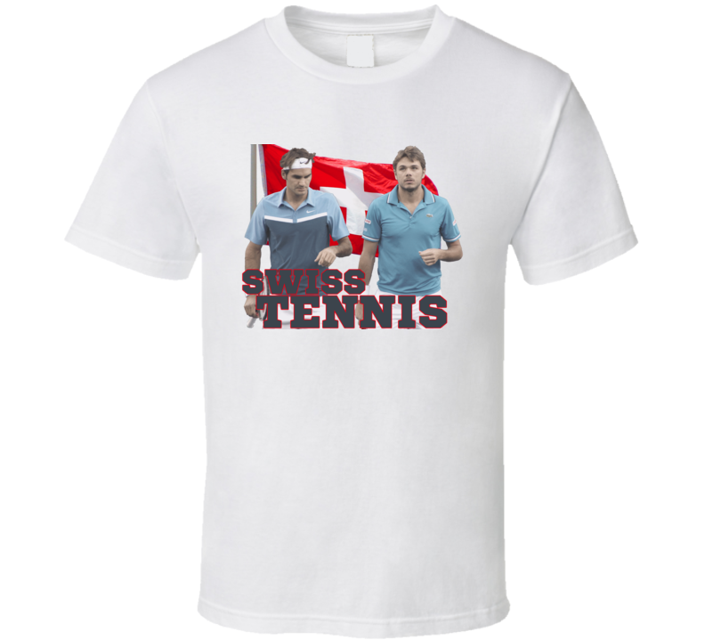 Swiss Tennis Federer Wawrinka White T Shirt