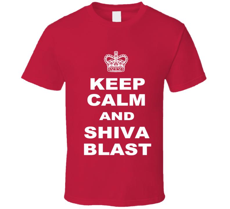 The League Keep Calm Shiva Blast Red T Shirt