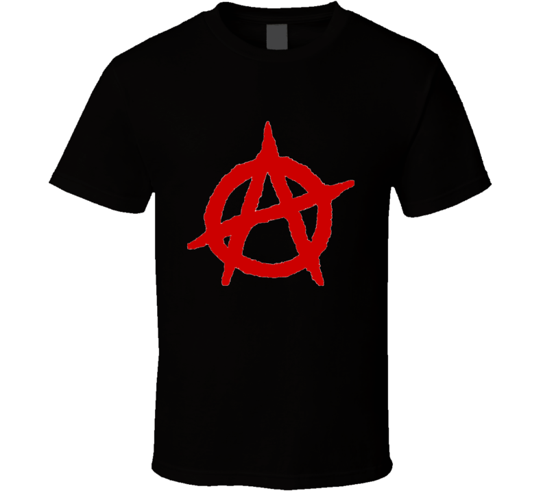 Anarchy red logo - black T Shirt
