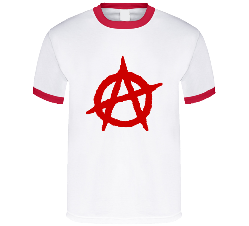 Anarchy red logo - red ringer T Shirt
