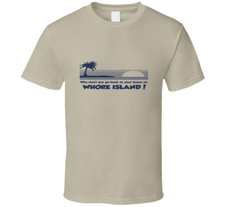 Anchorman - Whore Island - Tan T Shirt