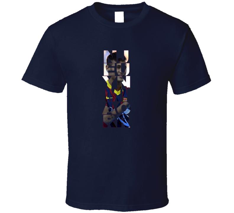 Neymar Jr Barcelona FC Foto T Shirt