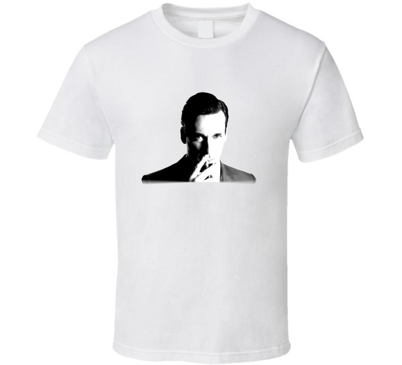 Mad Men Don Draper Smoking T Shirt