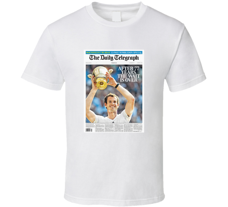 Andy Murray 2013 Wimbledon Champion Daily Telegraph T Shirt