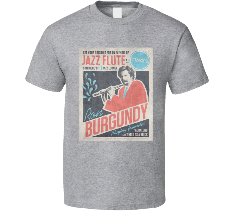 Anchorman Ron Burgundy Jazz Flute T Shirt