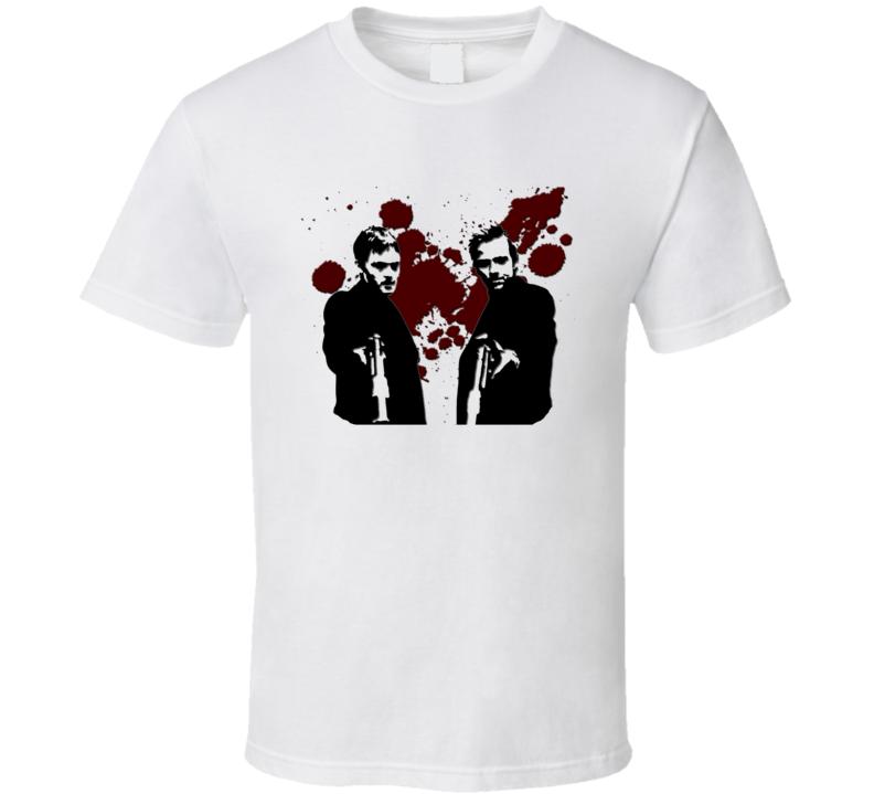 Boondock Saints Norman reedus Sean Patrick Flanery Two Guns T Shirt