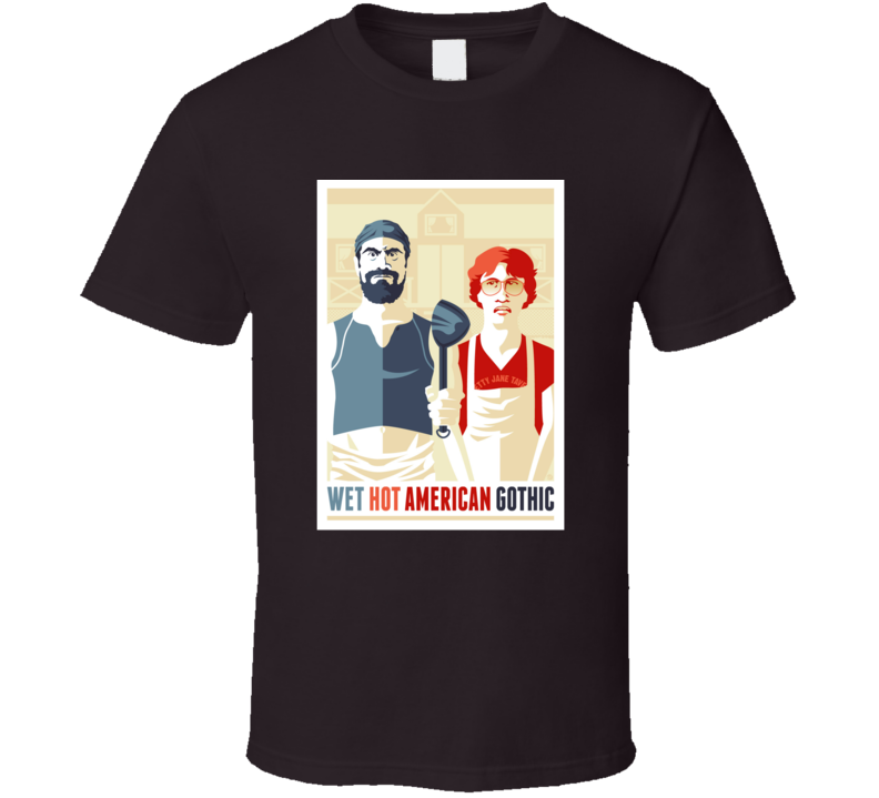 Wet Hot American Summer American Gothic Funny T Shirt