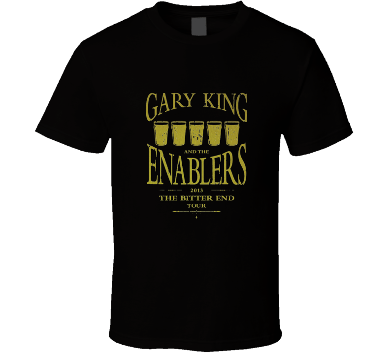 The Worlds End - Gary King and the Enablers Distressed T Shirt