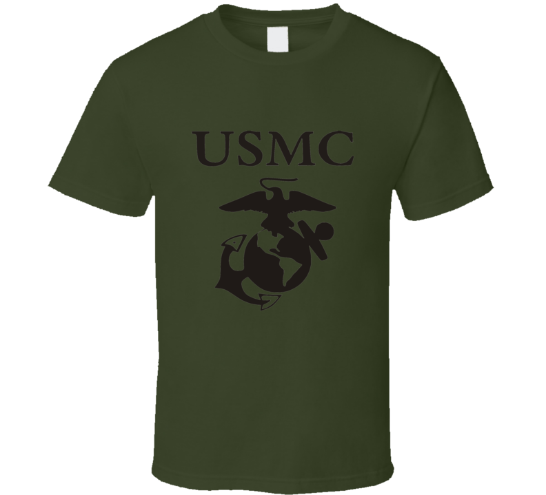 USMC Marine Corps Military Green T Shirt