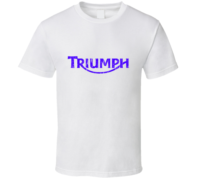 Triumph Motorcycles Vintage Distressed T Shirt