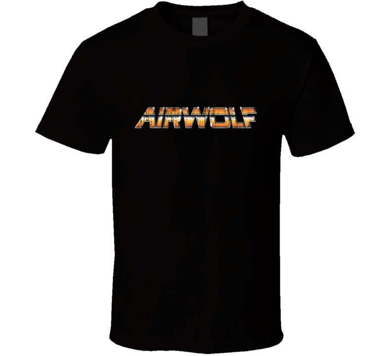 Airwolf Vintage TV Show Distressed T Shirt