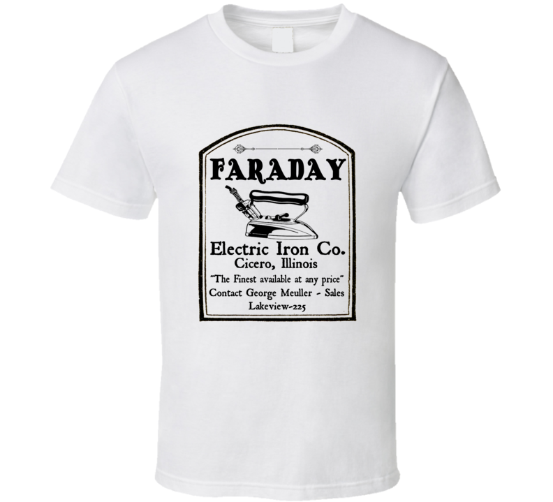 Boardwalk Empire Agent Van Alden Faraday Electric Iron Co T Shirt