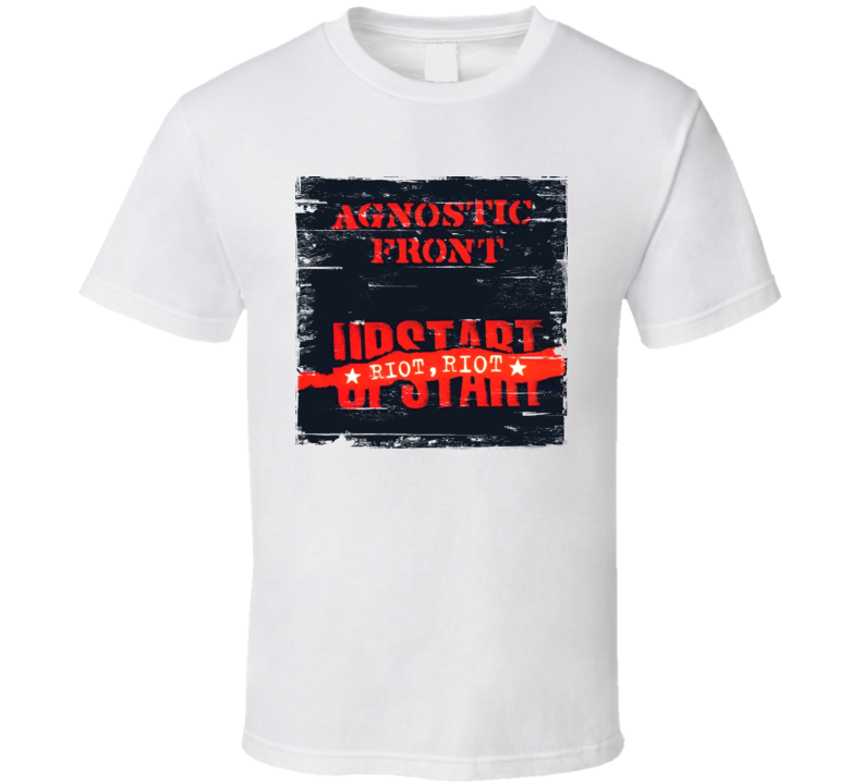 Agnostic Front Riot Riot Upstart Worn Image Tee