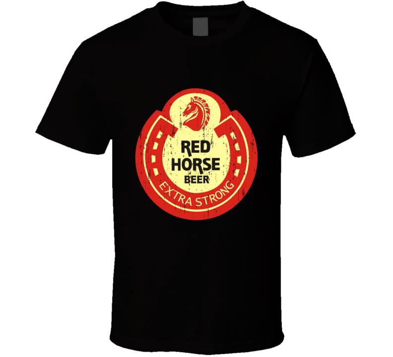 Vintage Beer Logo Red Horse T Shirt