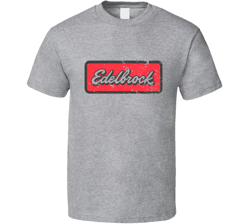 Edelbrock Racing Cams Faded Distressed T Shirt