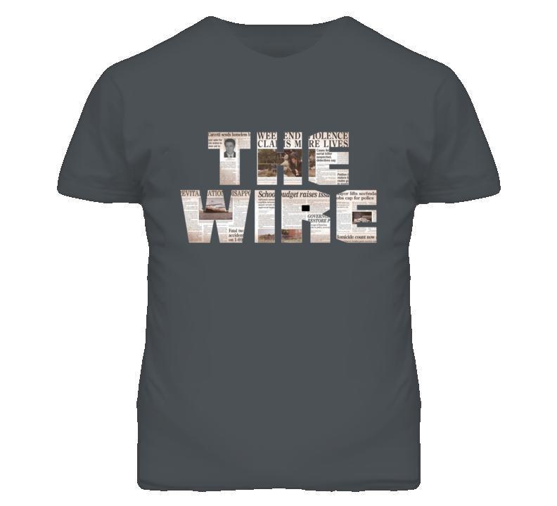 The Wire HBO Series Logo T Shirt