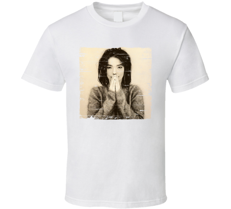 Bjork Debut Album Cover Grunge Look T Shirt