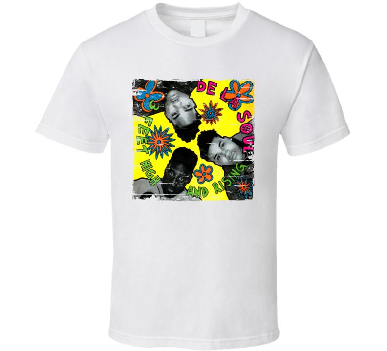 De La Soul 3 Feet High and Rising Album Cover Distressed Image T Shirt