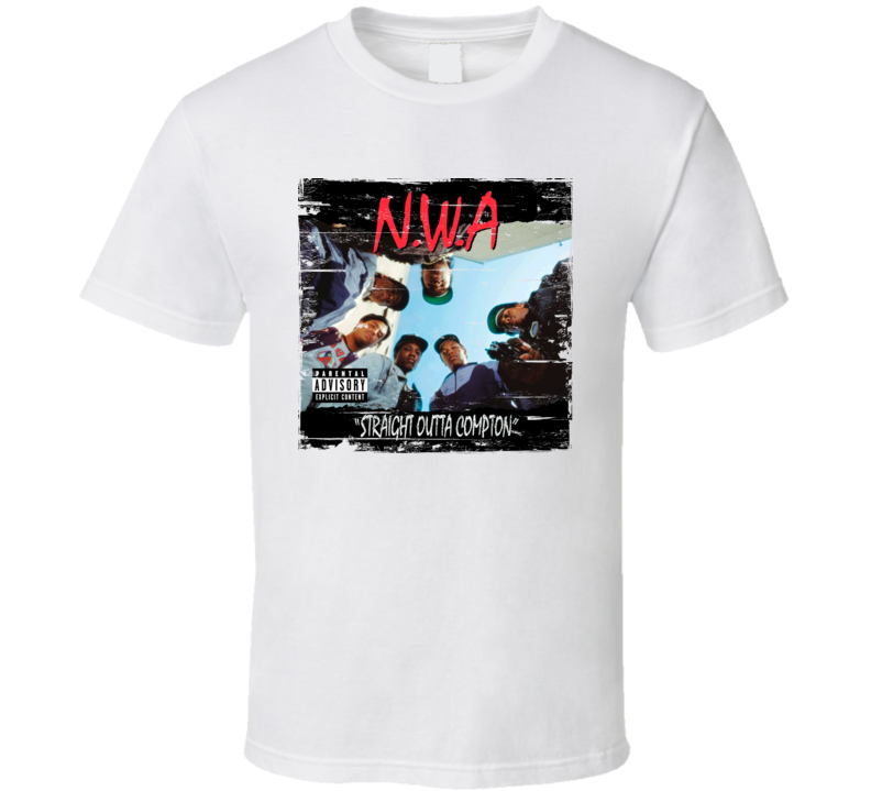 NWA Straight Outta Compton Album Cover Distressed Image T Shirt
