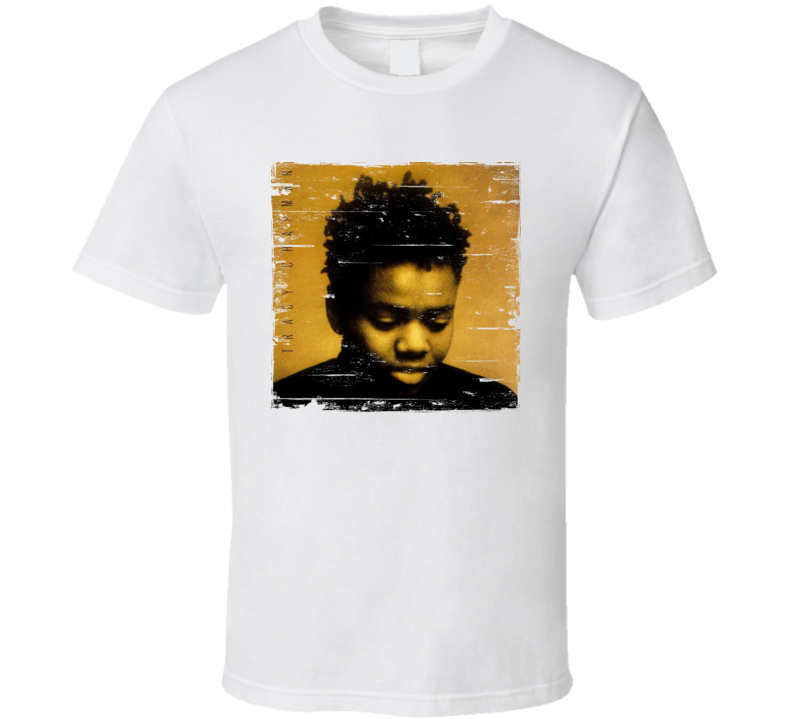 Tracy Chapman Tracy Chapman Album Cover Distressed Image T Shirt