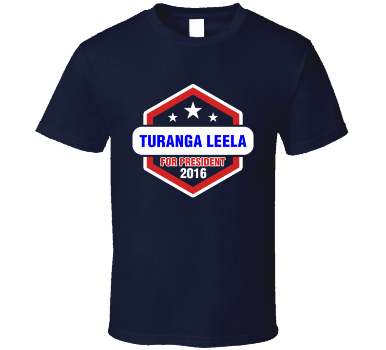 Turanga Leela  For President 2016 Futurama TV Show T Shirt