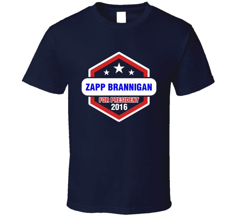 Zapp Brannigan  For President 2016 Futurama TV Show T Shirt