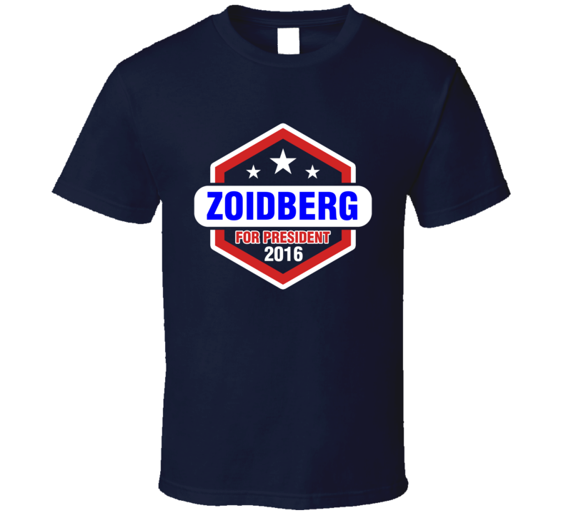 Zoidberg  For President 2016 Futurama TV Show T Shirt