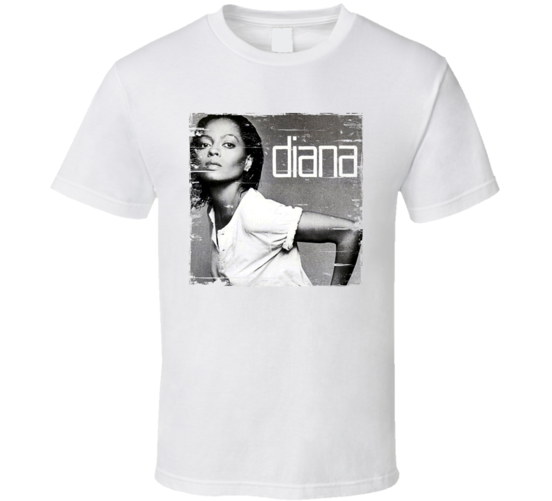 best quality quality products outlet store sale Diana Ross Diana Album Cover Distressed Look T Shirt