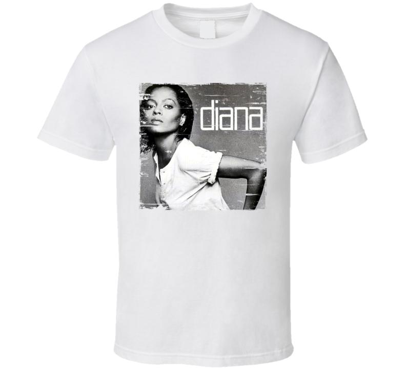 Diana Ross Diana Album Cover Distressed Look T Shirt