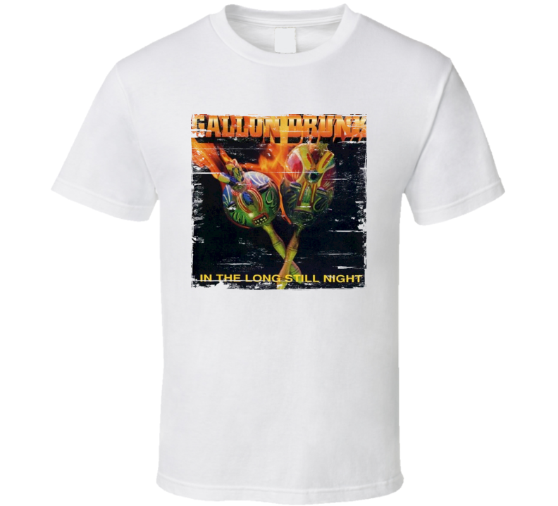 Gallon Drunk In The Long Still Night Album Cover Distressed Image T Shirt