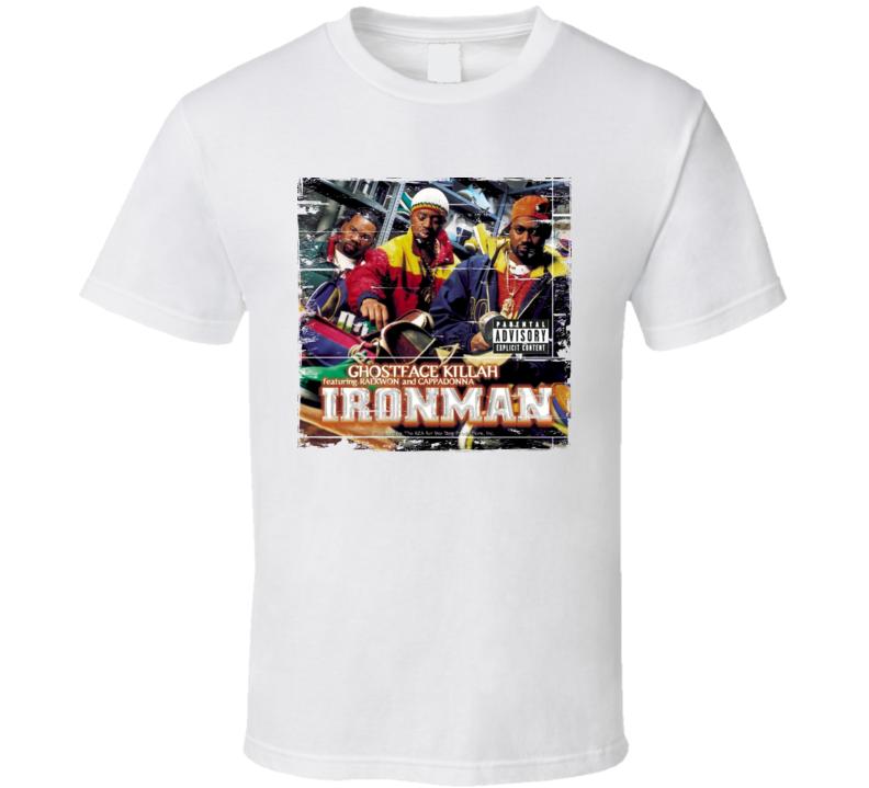 Ghostface Killah Ironman Album Cover Distressed Image T Shirt