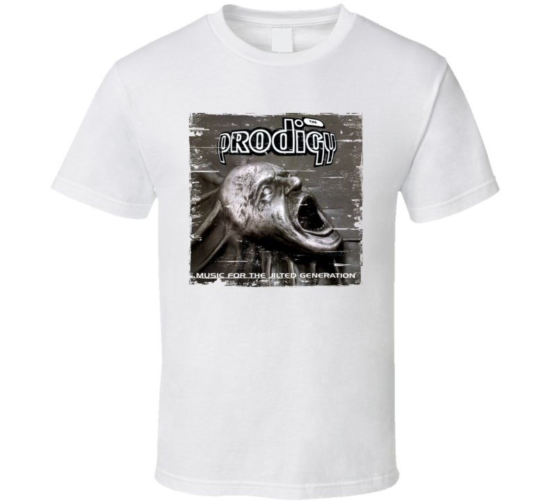 The Prodigy Music For A Jilted Generation Album Cover Distressed Image T Shirt