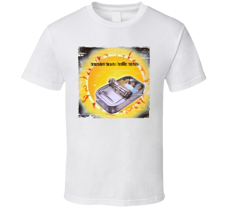Beastie Boys Hello Nasty Album Cover Distressed Image T Shirt