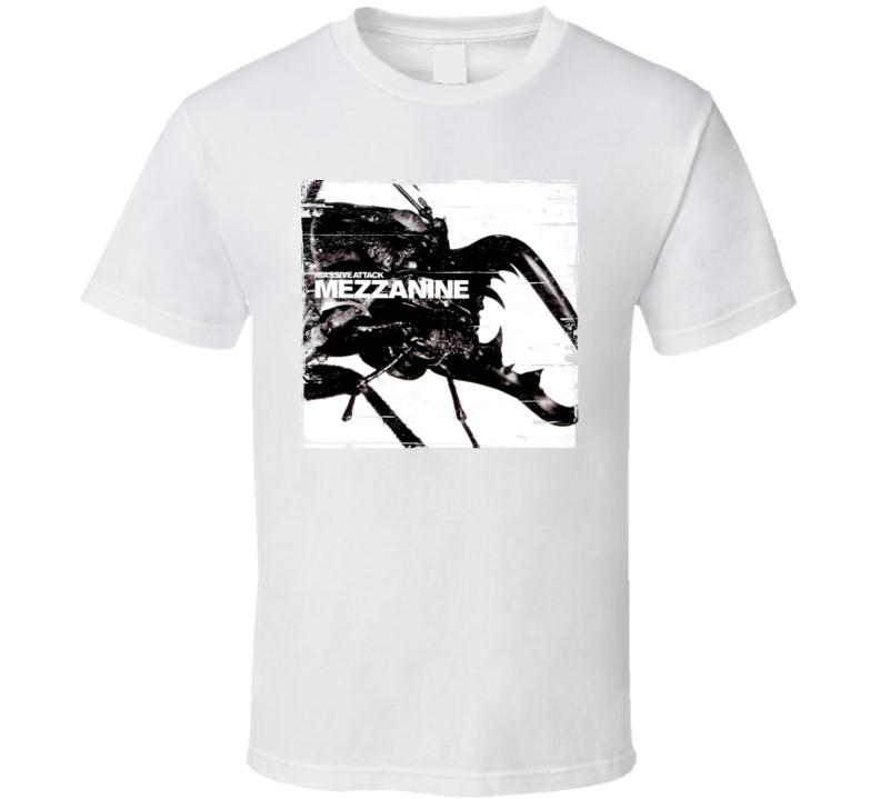 Massive Attack Mezzanine Album Cover Distressed Image T Shirt