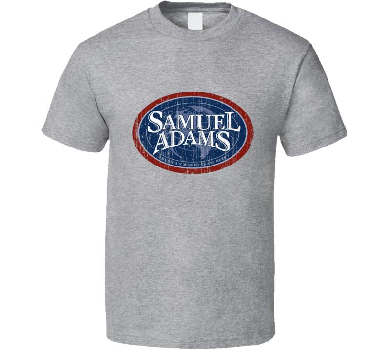 Samuel Adams Beer Distressed Image T shirt